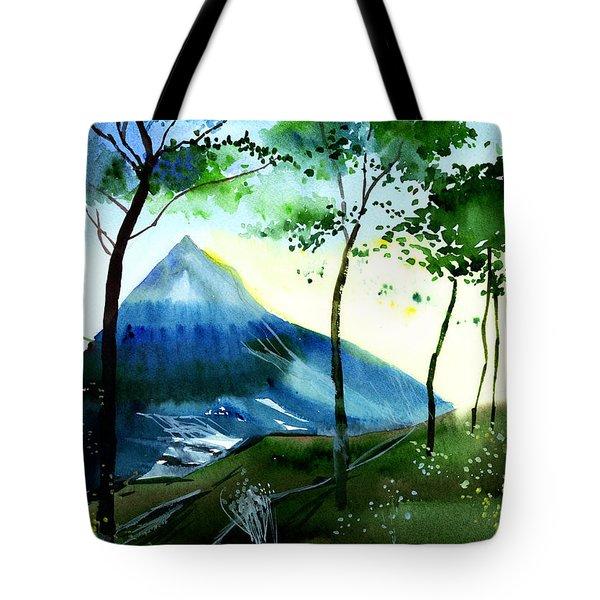 Hello Tote Bag by Anil Nene
