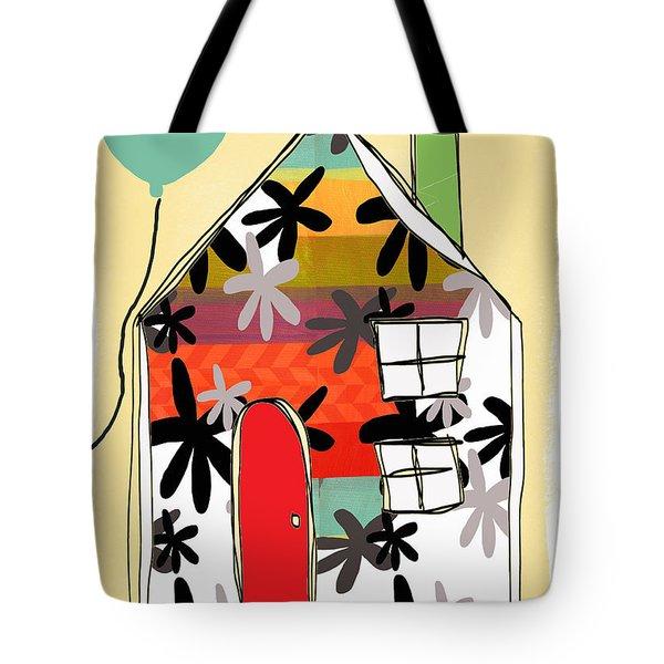 Hello Card Tote Bag by Linda Woods