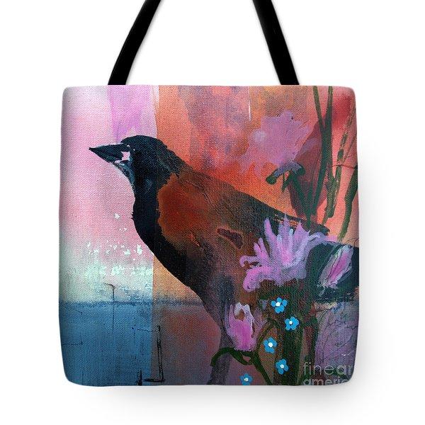 Hello Crow Tote Bag by Robin Maria  Pedrero