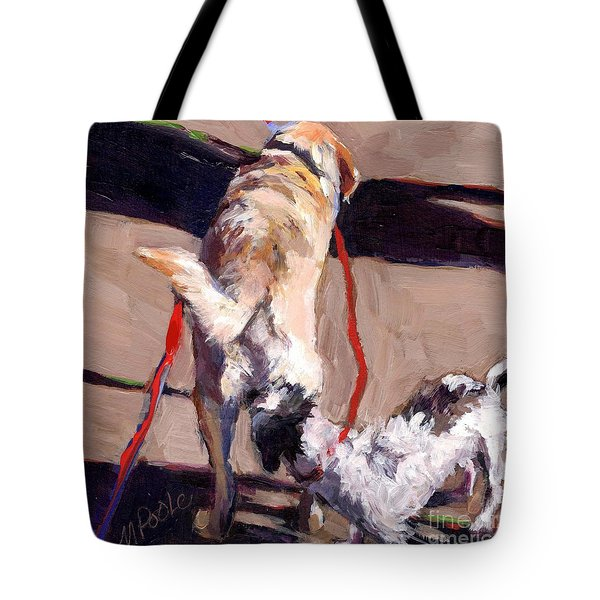 Hello Tote Bag by Molly Poole