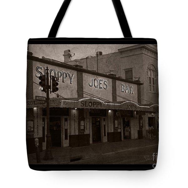 Hemingway Was Here Tote Bag by John Stephens
