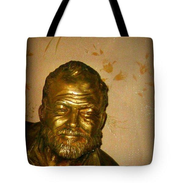 Hemmingway in Havana Tote Bag by John Malone