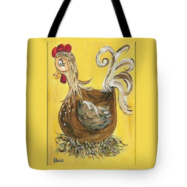 Hen Nesting Tote Bag by Eloise Schneider