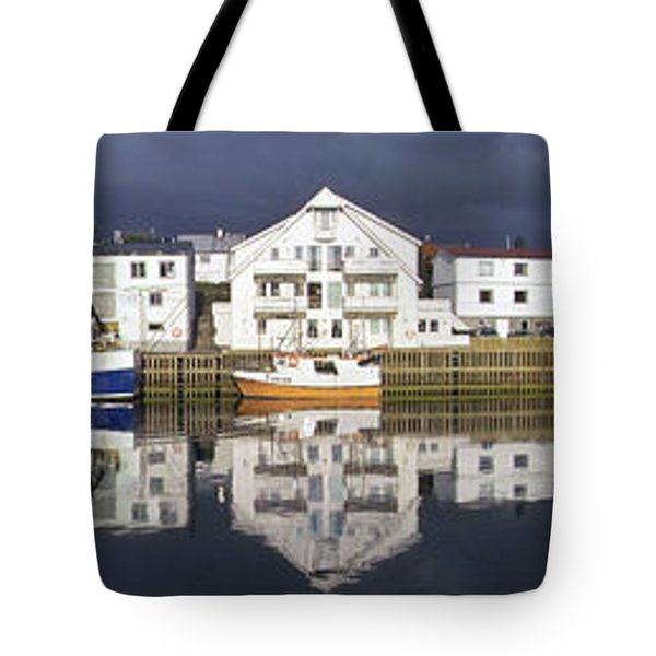Henningsvaer Panoramic View Tote Bag by Heiko Koehrer-Wagner
