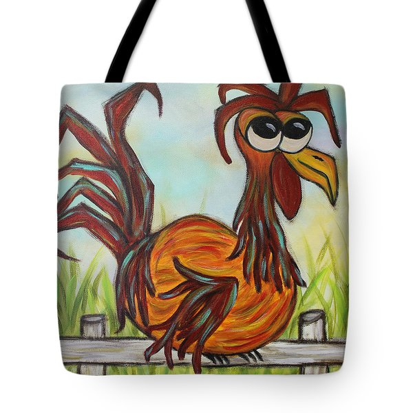Ol' Rooster Tote Bag by Molly Roberts