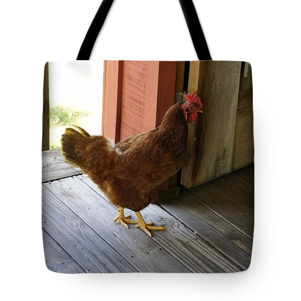 Henscratch Tote Bag by Laurie Perry