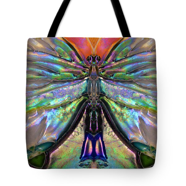 Her Heart Has Wings - Spiritual Art By Sharon Cummings Tote Bag by Sharon Cummings