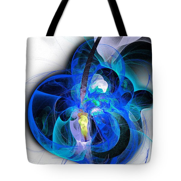 Her Heart Is A Guitar Blue Tote Bag by Andee Design