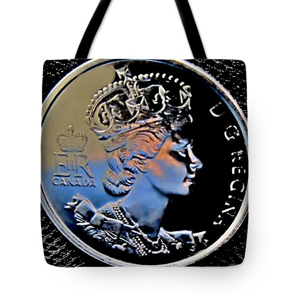 Her Majesty Elisabeth The Second  Coin Tote Bag by Danielle  Parent
