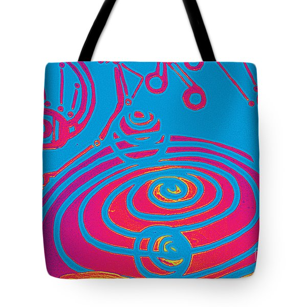 Her Navel Electric Vibrates Pulsates  Tote Bag by Feile Case