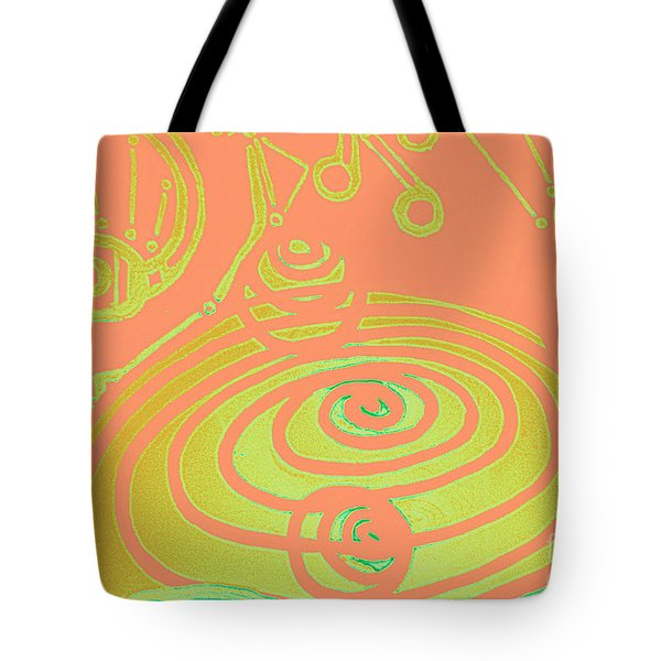 Her Navel Peach Vibrates Pulsates Tote Bag by Feile Case