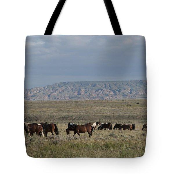 Herd Of Wild Horses Tote Bag by Juli Scalzi