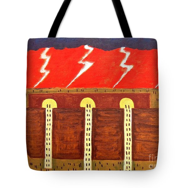 HERE COMES THE FLOOD Tote Bag by Patrick J Murphy