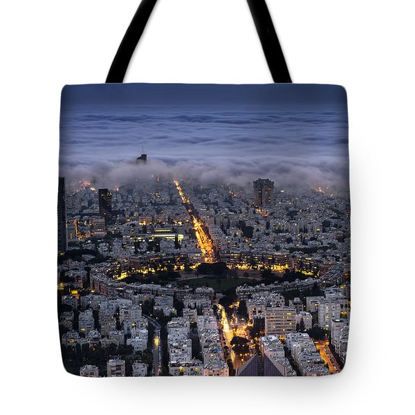 Here Comes The Fog  Tote Bag by Ron Shoshani