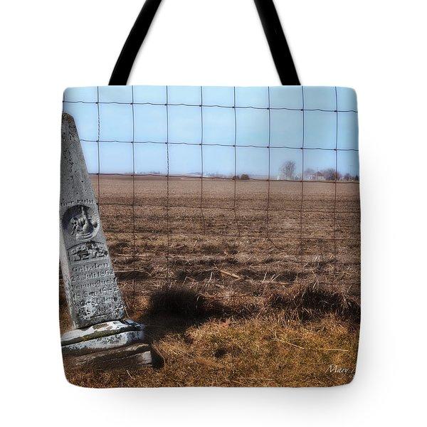 Here Lies George Neve - Walcott Iowa  Tote Bag by Mary Machare