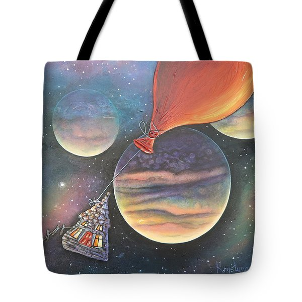 Here We Go Again Tote Bag by Krystyna Spink
