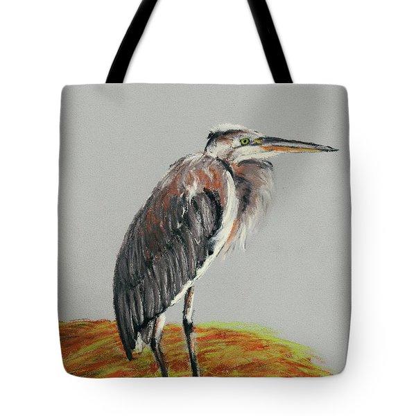 Heron Tote Bag by Anastasiya Malakhova