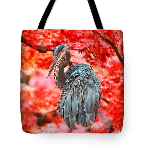 Heron Wonderland Tote Bag by Douglas Barnard