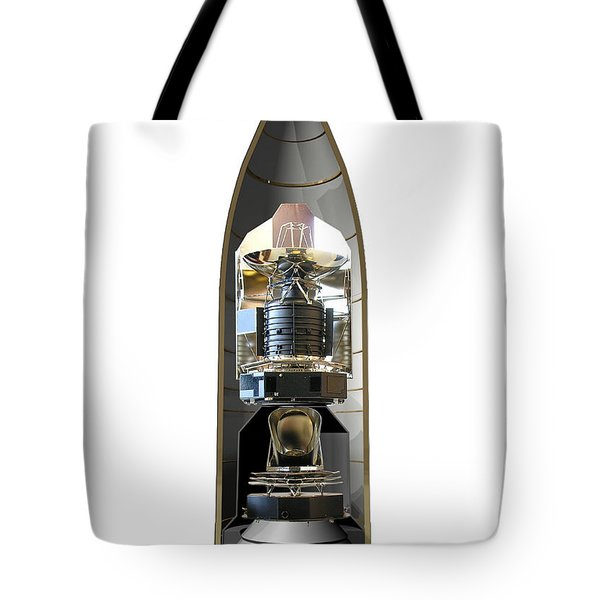 Tote Bag featuring the photograph Herschel & Planck Launch Configuration by Science Source