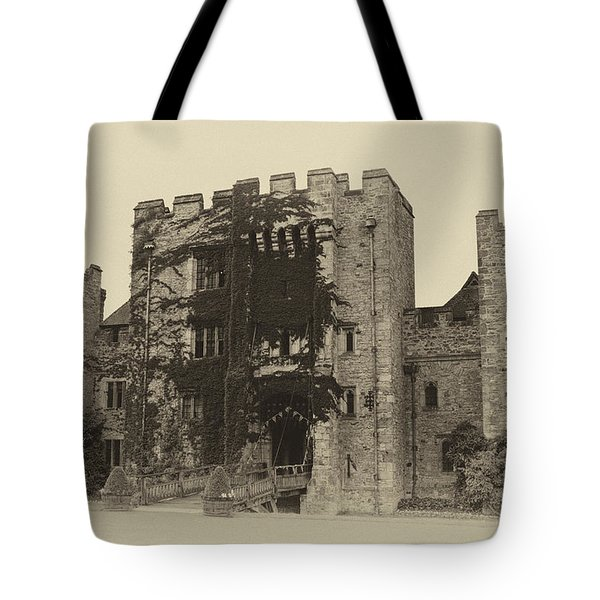 Hever Castle Yellow Plate Tote Bag by Chris Thaxter