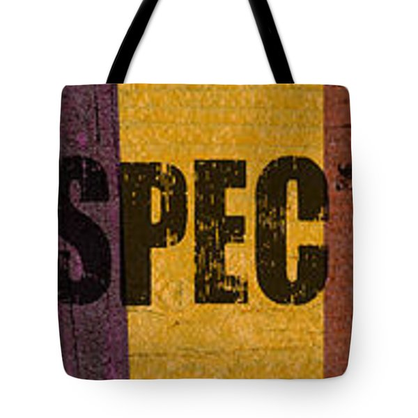 Hey Man Respect The Beach Tote Bag by Michelle Calkins