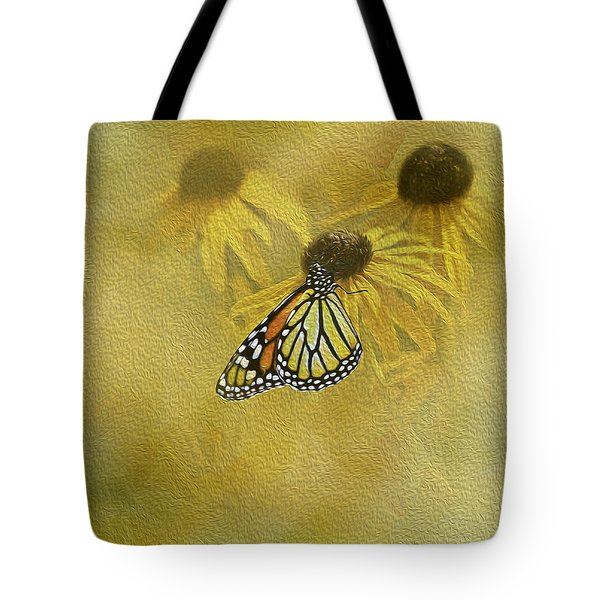 Hey Susan There Is That Butterfly Again Tote Bag by Diane Schuster