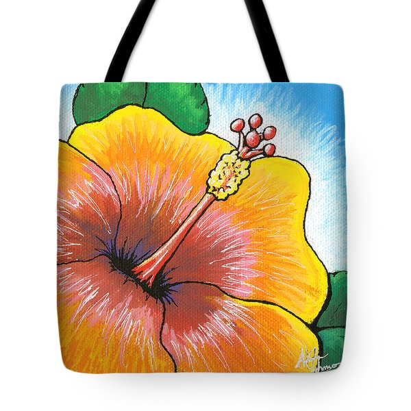 Hibiscus Number 2 Tote Bag by Adam Johnson