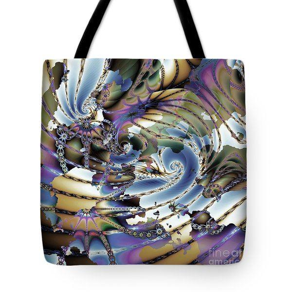 Hidden Chaos Of Order Tote Bag by Elizabeth McTaggart