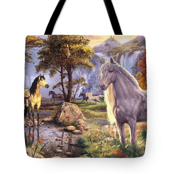Hidden Images - Horses Tote Bag by Steve Read