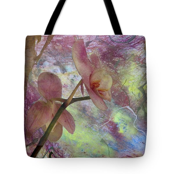 Hidden Orchid Tote Bag by Donna Walsh