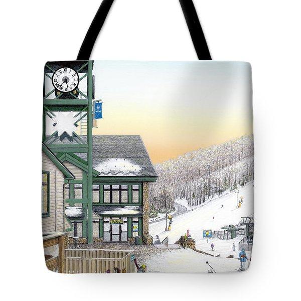 Hidden Valley Ski Resort Tote Bag by Albert Puskaric