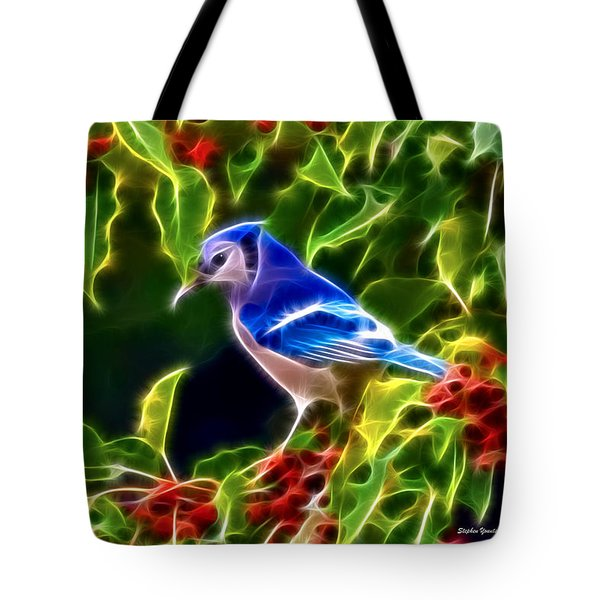 Hiding In The Berries Tote Bag by Stephen Younts