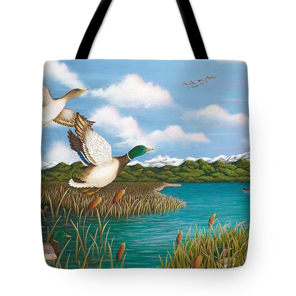 Hiding Out Tote Bag by Katherine Young-Beck