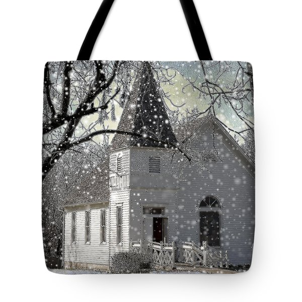 Higgensville Church Tote Bag by Liane Wright