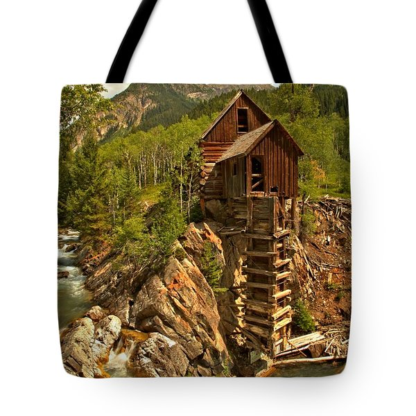 High Above The Crystal River Tote Bag by Adam Jewell