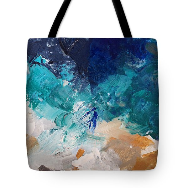 High As A Mountain- Contemporary Abstract Painting Tote Bag by Linda Woods