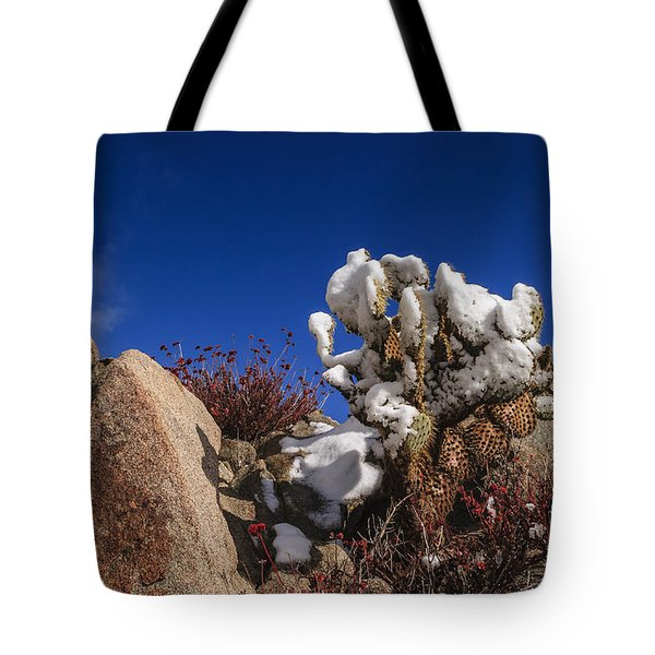 High Desert Snow 2 Tote Bag by Scott Campbell