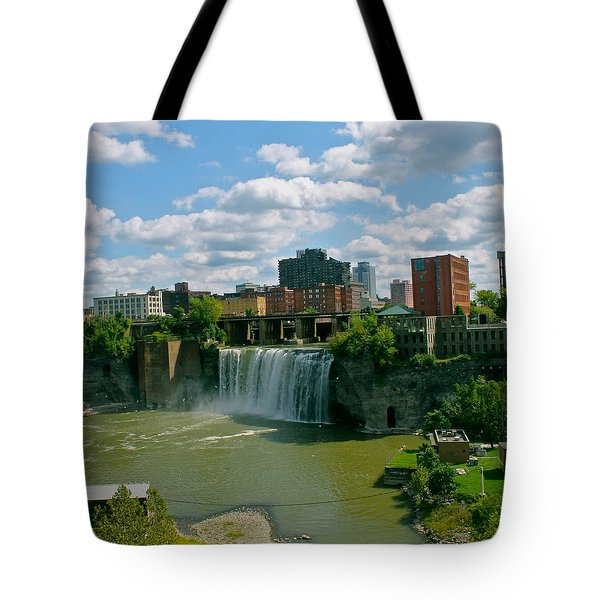 High Falls Rochester Tote Bag by Justin Connor