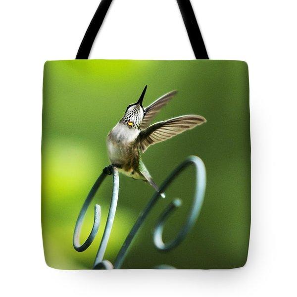 High Spirit Hummingbird Tote Bag by Christina Rollo