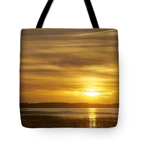 High Tide In The Marsh Tote Bag by Phill Doherty