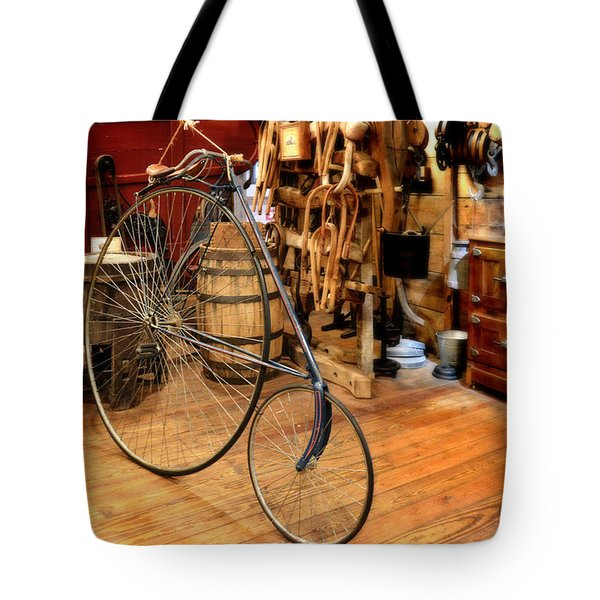 High Wheel 'Penny-farthing' Bike Tote Bag by Christine Till