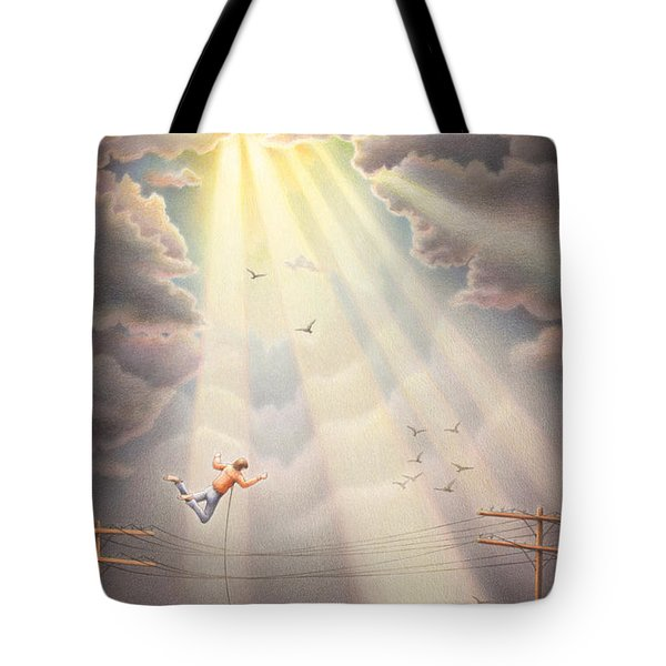 High Wire - Dream Series No. 4 Tote Bag by Amy S Turner