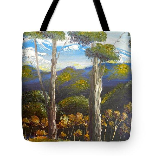 Highlands Gum Trees Tote Bag by Pamela  Meredith