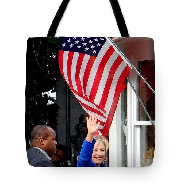 hillary clinton Tote Bag by Ed Weidman