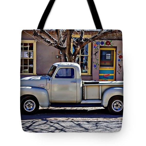 Hillsboro New Mexico 1949 Gmc 100 Tote Bag by Barbara Chichester