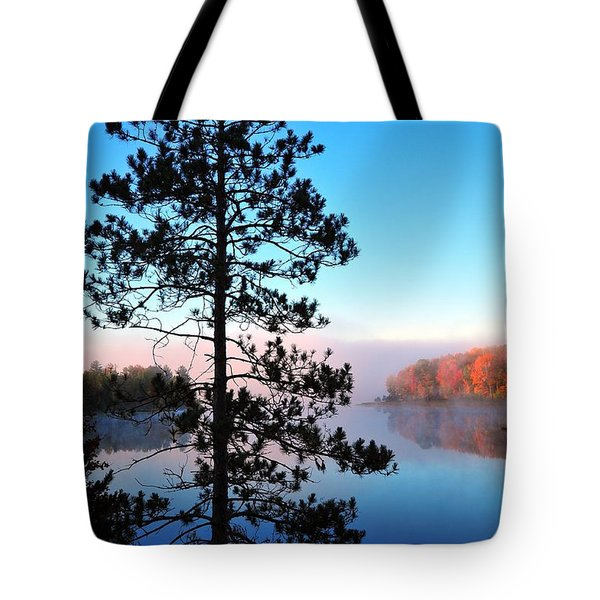 Hilltop View of Stoneledge Lake Tote Bag by Terri Gostola