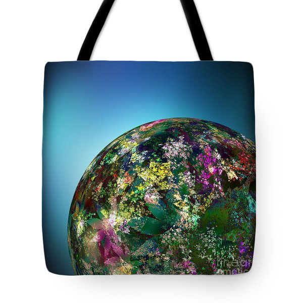Hippies' Planet 2 Tote Bag by Klara Acel