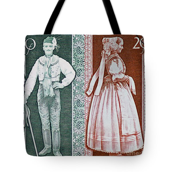 His And Hers Traditional Costumes Tote Bag by Andy Prendy