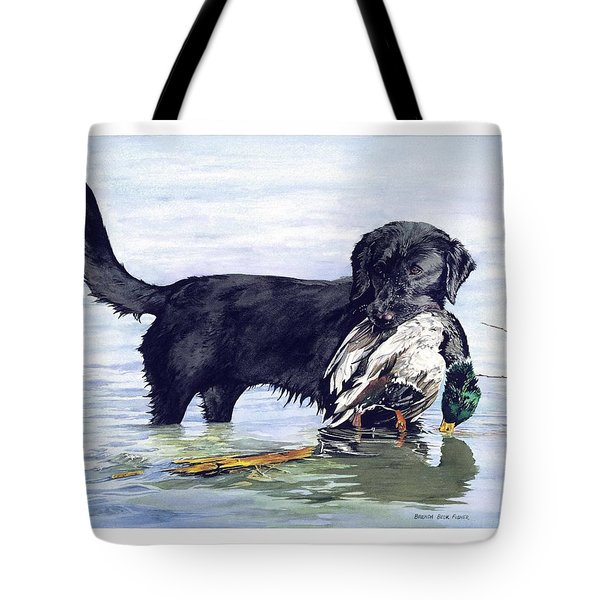 His First Catch Tote Bag by Brenda Beck Fisher