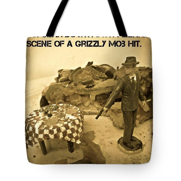 Hit On A Pizza Tote Bag by John Malone